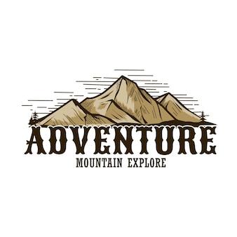 Design de logotipo vintage de aventura