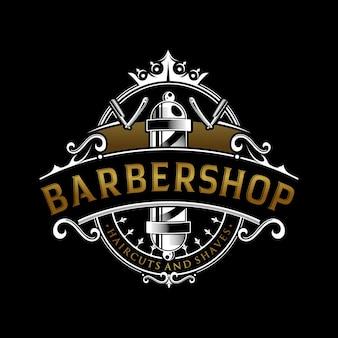 Design de logotipo vintage de barbearia