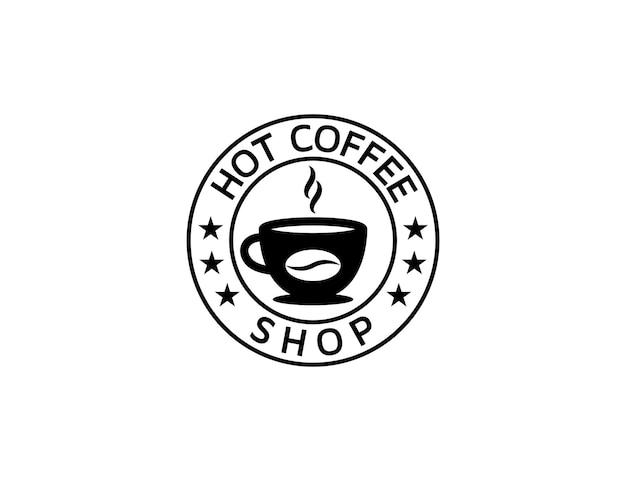 Design de logotipo vintage de cafeteria