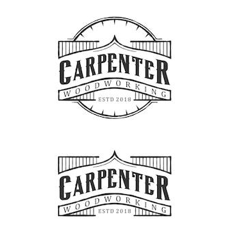 Design de logotipo vintage de carpinteiro