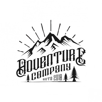 Design de logotipo vintage de empresa de aventura