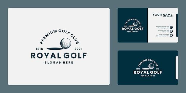 Design de logotipo vintage de golfe com crachá