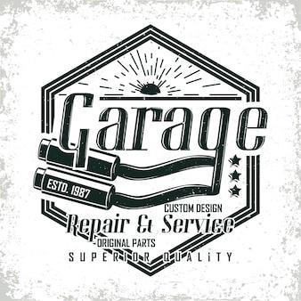 Design de logotipo vintage de motocicleta