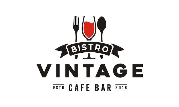 Design de logotipo vintage restaurante