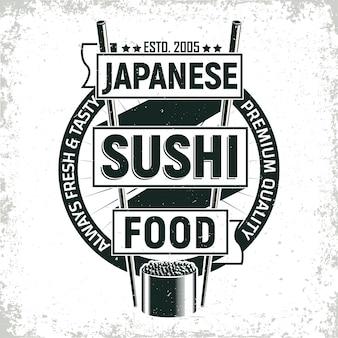 Design de logotipo vintage sushi bar