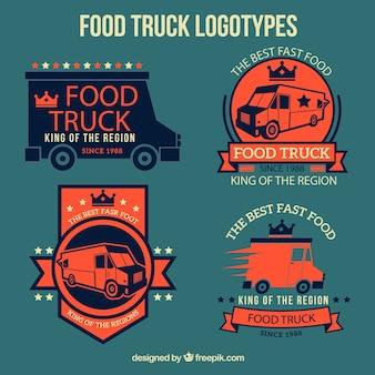 Design de logotipos caminhão de alimentos