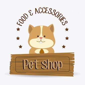 Design de loja de animais.