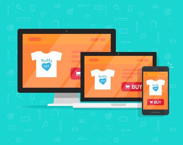 Design de loja de internet responsivo