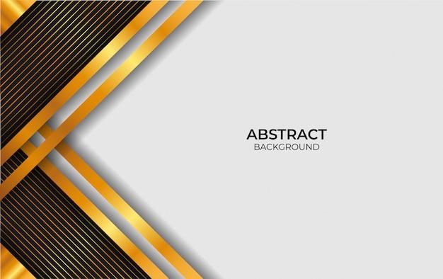 Design de luxo abstrato branco e ouro