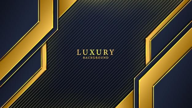 Design de luxo abstrato preto e amarelo