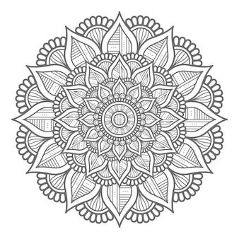Design de mandala conceito abstrato e decorativo estilo circular