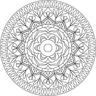 Design de mandala de contorno