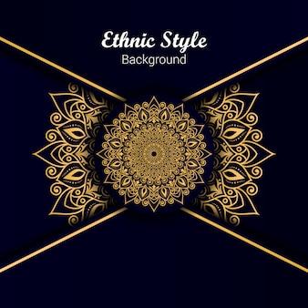 Design de mandala de estilo étnico