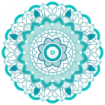 Design de mandala de flor verde
