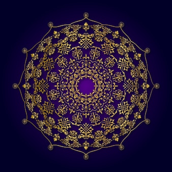 Design de mandala de luxo dourado
