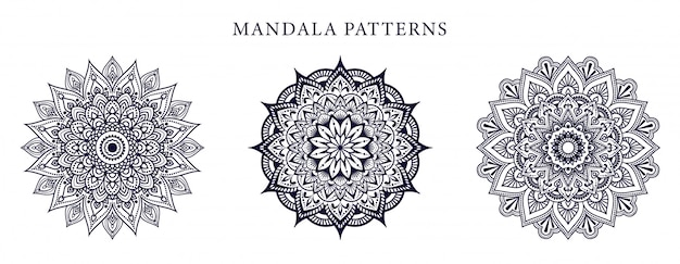 Design de mandala de luxo ornamental