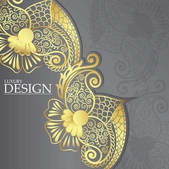 Design de mandala de luxo