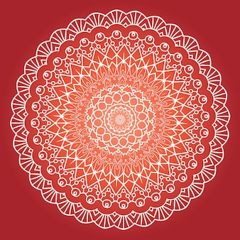 Design de mandala de meditação fractal étnica