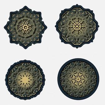 Design de mandala de ornamento, decoração de corte a laser