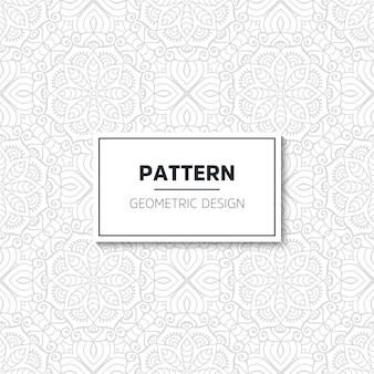 Design de mandala de padrão luxuoso