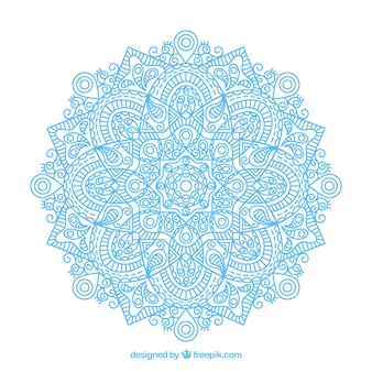 Design de mandala linear