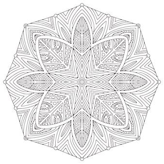 Design de mandala mehndi. página do livro de colorir.
