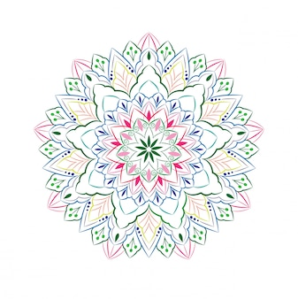 Design de mandala ornamental isolado