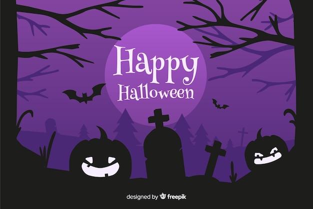 Design de mão desenhada de fundo de halloween