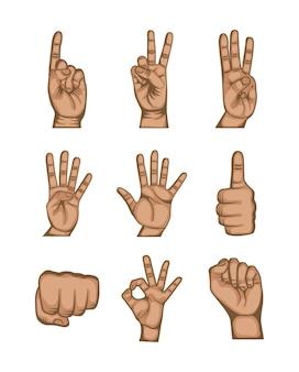 Design de mão humana