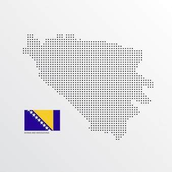 Design de mapa da bósnia e herzegovina
