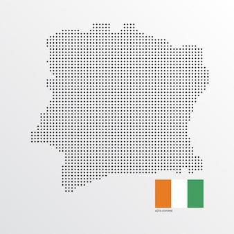 Design de mapa da costa do marfim