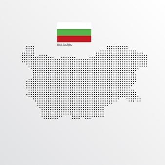 Design de mapa de bulgária com bandeira e luz de fundo vector