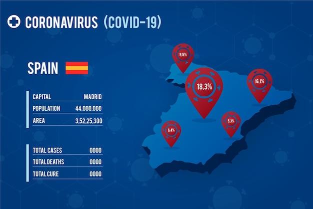 Design de mapa de país de coronavírus