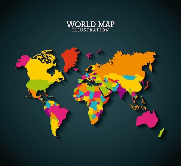 Design de mapa do mundo