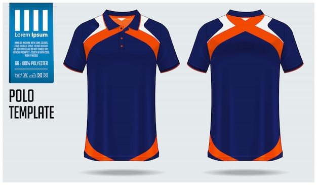 Design de maquete de camisa polo.