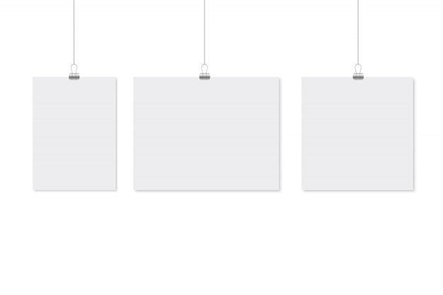 Design de maquete de cartaz de papel.