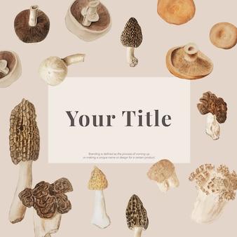 Design de maquete de cogumelo