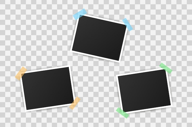 Design de maquete de molduras para fotos. fotografia realista com espaço em branco para a sua imagem.