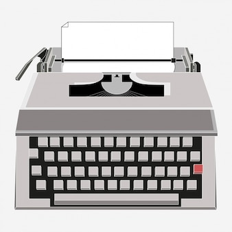 Design de máquina de escrever colorido