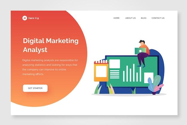 Design de marketing digital da página de destino