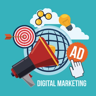 Design de marketing digital.
