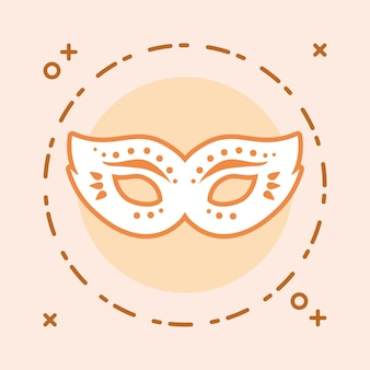 Design de máscara de carnaval