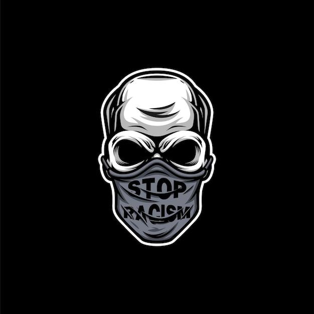 Design de máscara de mascote de caveira