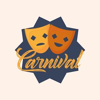 Design de máscaras de carnaval