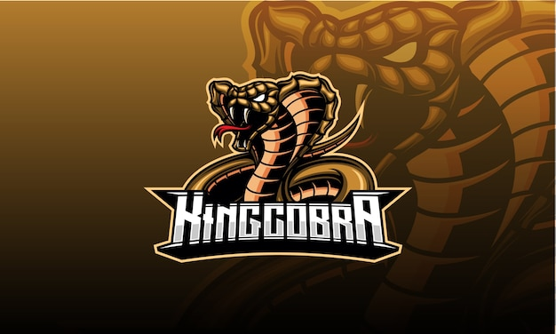 Design de mascote da cobra-rei marrom