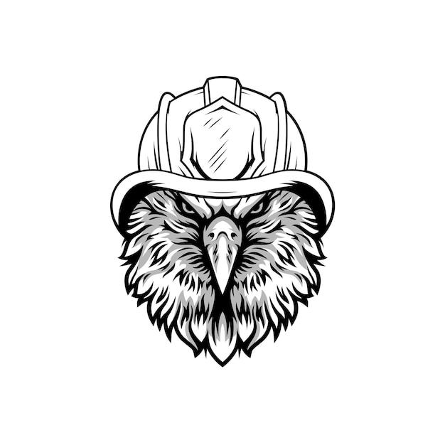 Design de mascote de bombeiro