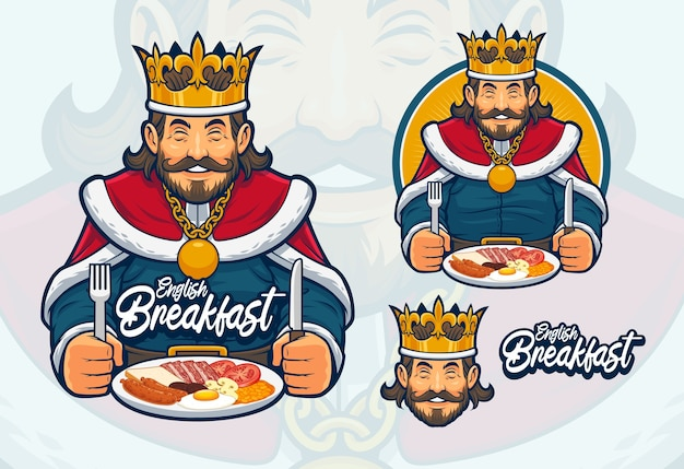 Design de mascote de café da manhã inglês