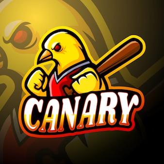Design de mascote de logotipo esport canary
