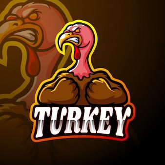 Design de mascote de logotipo esport de turquia