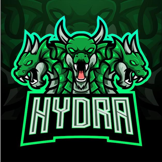 Design de mascote de logotipo hydra esport